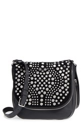 Vince Camuto Bonny Studded Leather Crossbody Bag Black Nero