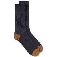 Anonymous Ism Tweed Knitted Yarn Crew Sock Blue