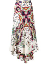 Etro Patterned Maxi Skirt White