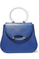 Charlotte Olympia Newman Textured Leather Tote Blue