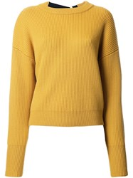 Le Ciel Bleu 'Back Tape Knit' Sweater Yellow Orange