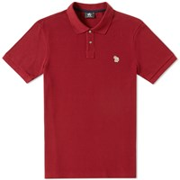 Paul Smith Regular Fit Zebra Polo Burgundy
