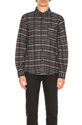 A.P.C. Trevor Shirt Jacket In Blue Gray Checkered And Plaid Blue Gray Checkered And Plaid