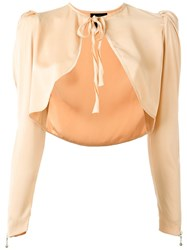 Jean Paul Gaultier Vintage Tied Bolero Nude And Neutrals