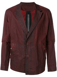 Isaac Sellam Experience Blazer Jacket With Stapled Back Details Red