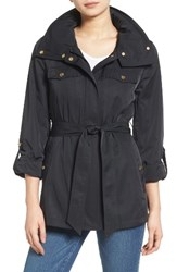 Ellen Tracy Women's Zip Utility Trench Coat Black