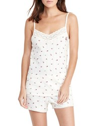 Lauren Ralph Lauren Cotton Blend Printed Camisole And Shorts Set White
