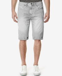 Buffalo David Bitton Men's Parker Denim Shorts Light Hand Sand Grey