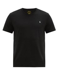 Polo Ralph Lauren Logo Embroidered Cotton Pyjama T Shirt Black