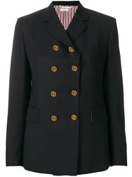 Thom Browne Solid Wool Sport Coat Blue