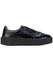 Puma Creeper Sneakers Women Leather Patent Leather Rubber 5 Black