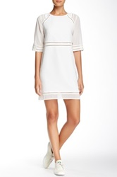 Andrew Marc Georgette Dress White