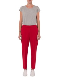 French Connection Whisper Ruth Tapered Trousers Blazer Red
