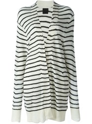 Rta Striped Open Cardigan Nude And Neutrals