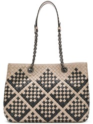Bottega Veneta Woven Tote Bag Nude And Neutrals