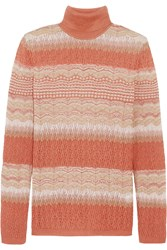 Missoni Crochet Knit Turtleneck Sweater