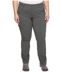 Columbia Plus Size Saturday Trail Pants Grill Women's Casual Pants Gray