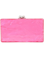 Edie Parker Rectangular Clutch Acrylic Pink Purple