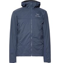 Arc'teryx Atom Sl Slim Fit Padded Tyono And Stretch Jersey Hooded Jacket Storm Blue