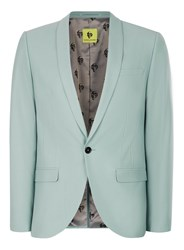 Topman Blue Noose And Monkey Light Green Skinny Fit Suit Jacket