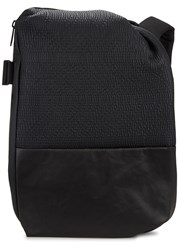 Cote And Ciel Isar Black Neoprene Faux Leather Backpack