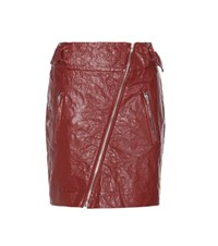 Isabel Marant Breezy Faux Leather Miniskirt Red