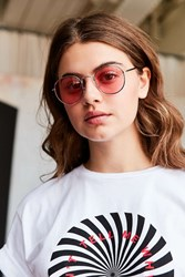 Urban Outfitters Daydream Metal Round Sunglasses Pink