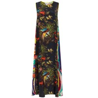 Klements Patti Dress In Volcano And Magma Print Black