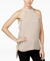 Bar Iii Ruffled Halter Blouse Only At Macy's Ballet Pink