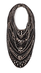 Haute Hippie Crystal Neck Piece Black