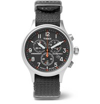 Timex Scout Stainless Steel And Webbing Watch Black