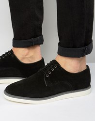 Dune Blow Out Suede Derby Shoes Black