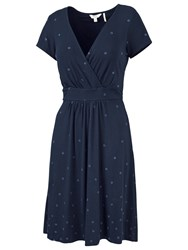 Fat Face Camille Floral Border Dress Navy