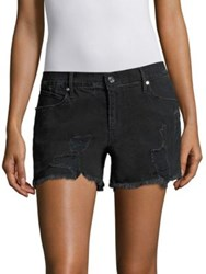 Rta Olivia Distressed Shorts Ash Destroyed