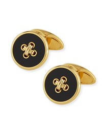 Button And Thread Cuff Links Black Men's Alfred Dunhill