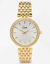 Limit Gold Sparkle Surround Watch