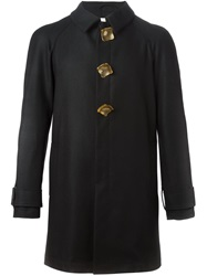 J.W.Anderson J.W. Anderson Perforated Metal Button Trench Coat Black