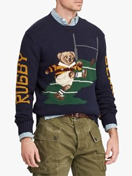 Ralph Lauren Polo Rugby Bear Sweater Navy