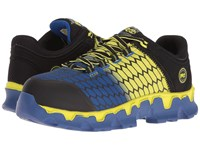 Timberland Powertrain Alloy Toe Sd Black Synthetic Yellow Blue Men's Work Lace Up Boots