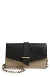Halogen 'Belltown' Leather Crossbody Bag Brown Tan Black