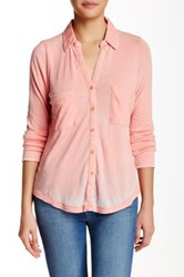 Alternative Apparel Everyday Long Sleeve Blouse Pink