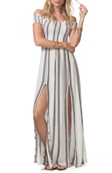 Rip Curl 'S Soulmate Off The Shoulder Maxi Dress White