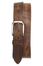 Remo Tulliani Men's 'Gunner' Leather Belt Natural