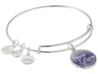 Alex And Ani Art Infusion Peace Love Shiny Silver Bracelet Metallic