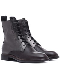 Brunello Cucinelli Leather Ankle Boots Black