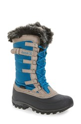 Kamik Women's Snowvalley Waterproof Boot With Faux Fur Cuff Teal
