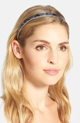France Luxe 'Ultracomfort' Lace Headband Annette Lace Black