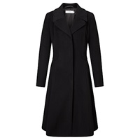 John Lewis Sienna Fit And Flare Textured Coat Black