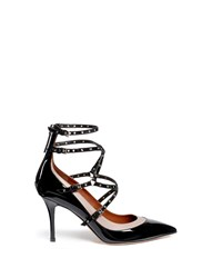 Valentino 'Love Latch' Caged Patent Leather Pumps Black