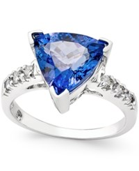Macy's Tanzanite 3 1 2 Ct. T.W. And Diamond 1 6 Ct. T.W. Ring In 14K White Gold